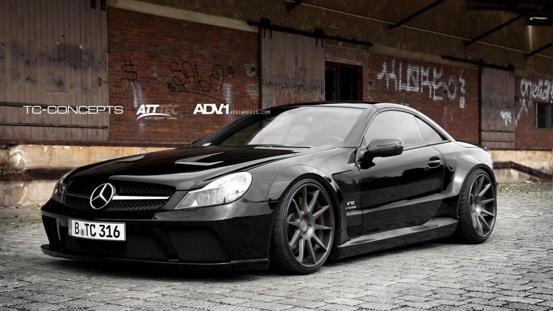 mercedes sl65 amg gets black series conversion by tc concepts. Black Bedroom Furniture Sets. Home Design Ideas