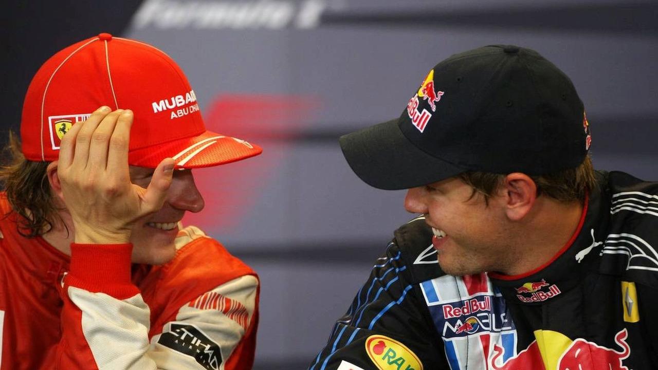 Kimi Raikkonen (FIN), Räikkönen, Scuderia Ferrari, Sebastian Vettel (GER), Red Bull Racing, Belgian Grand Prix, Francorchamps, Belgium, 30.08.2009