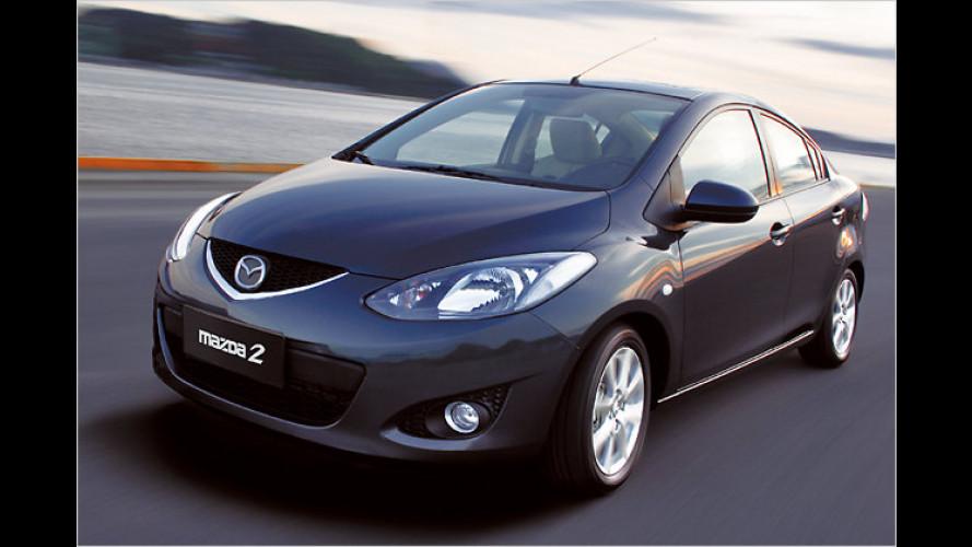 China-Heck: Mazda 2 mit Stufe für das Reich der Mitte