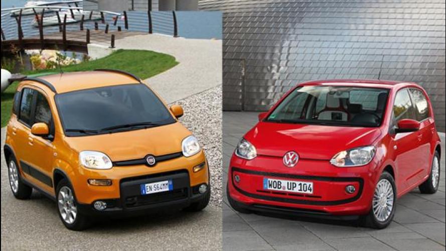 Fiat Panda contro Volkswagen up! a metano: qual è la piccola più economica?