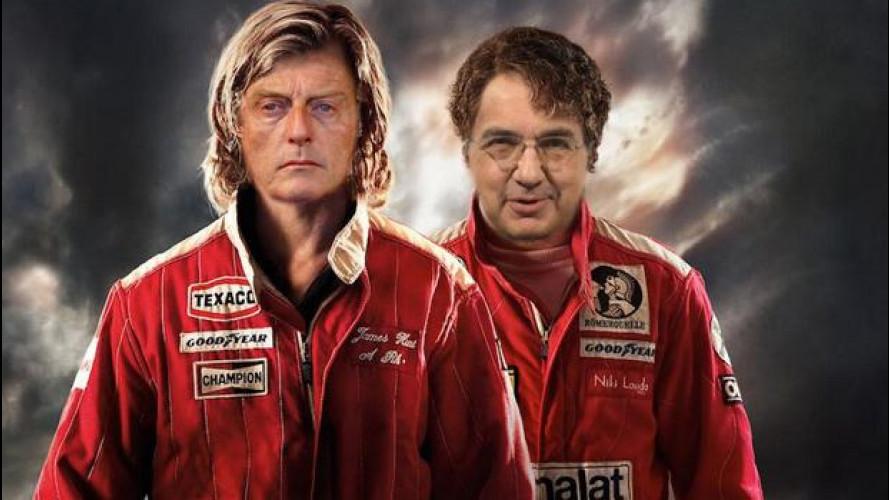 Ferrari da Montezemolo a Marchionne: la foto-satira si scatena
